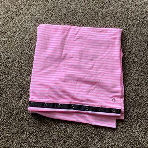 EUC pink stripe vinyasa scarf